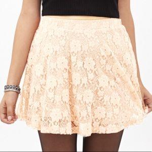 Arizona Jeans Beige Lace Skirt